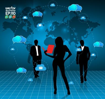 Cloud computing concept. Stock Vector - 16983150
