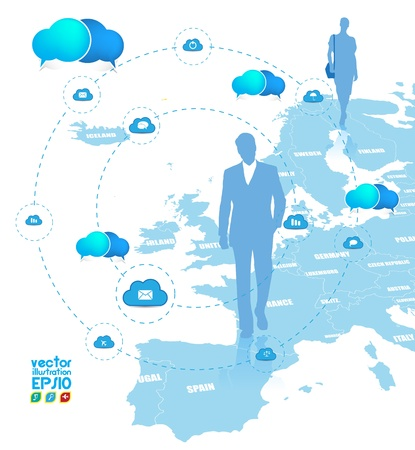Cloud computing concept. Stock Vector - 16983220