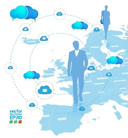 Cloud computing concept. Stock Vector - 16983220