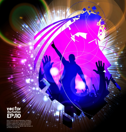 Music event background. Vector eps10 illustration.  Stock Vector - 16983218