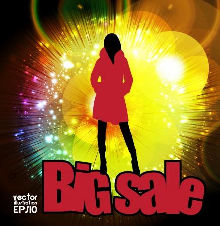 Big sale. Stock Vector - 17032572