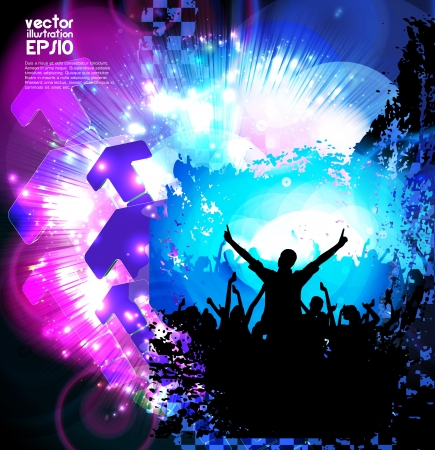 Dancing people. Music poster. Vector  Stock Vector - 17046940