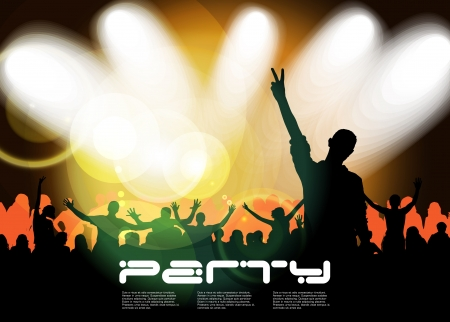 Cheering crowd at concert Stock Vector - 17156987