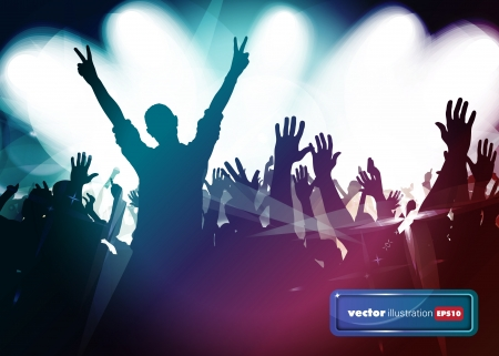 Dancing people. Music event illustration. Stock Vector - 17157022