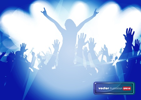 Dancing people. Music event illustration. Stock Vector - 17157075