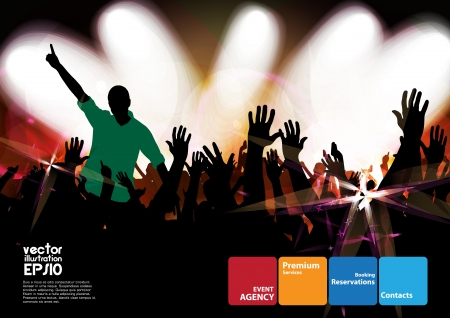 applauding: Crowd of dancing people