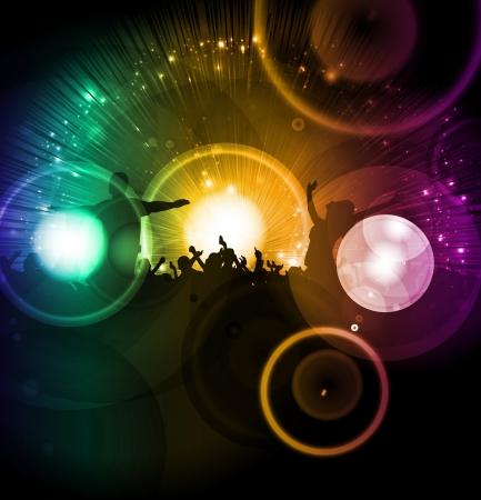 manos aplaudiendo: Muchedumbre en el concierto de música Foto de archivo