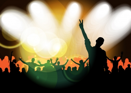 Crowd cheering at the music concert Stock Photo - 17189238
