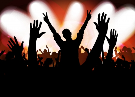 Crowd cheering at the music concert Stock Photo - 17189234