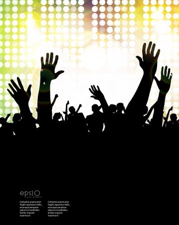 nightclub crowd: Concert crowd