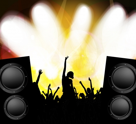 Concert crowd Stock Vector - 17189418