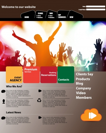 Colorful Music Website Template - Vector Design Stock Vector - 17178163