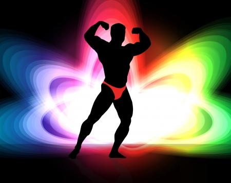 Bodybuilding. Stock Vector - 17247916