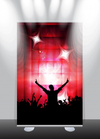 A display with stand banner template design. Vector illustration Stock Vector - 17284323