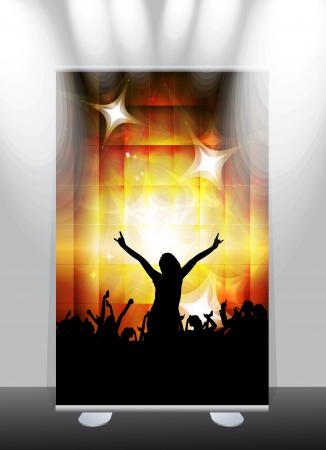A display with stand banner template design. Vector illustration Stock Vector - 17284321