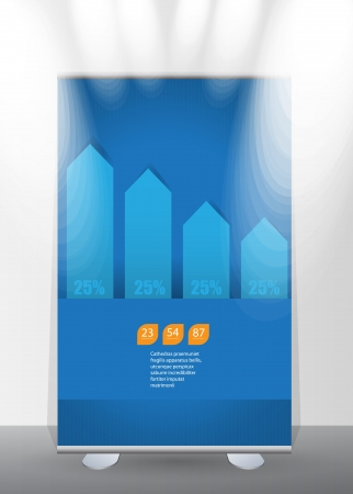 Banner stand display Stock Vector - 17284523