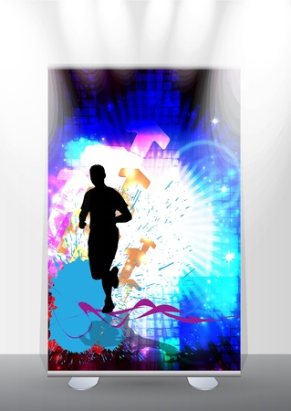 Banner stand display Stock Vector - 17284561