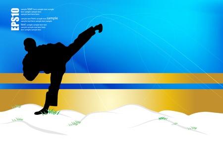 Karate warrior Stock Vector - 17337218