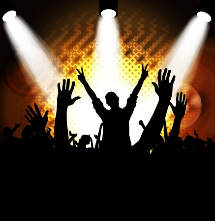 crowd cheering: Crowd cheering at the music concert