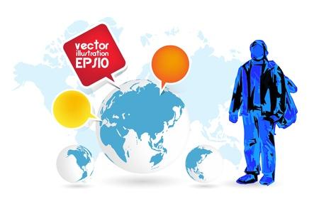 World Travel Stock Vector - 17380941