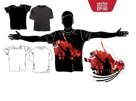 raglan: T-shirt design. Illustration