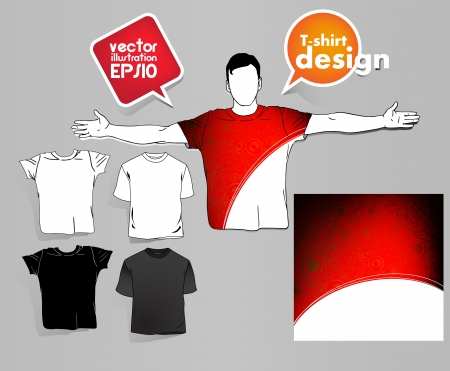 raglan: T-shirt design. Vector  Illustration
