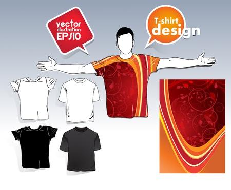 t-shirt design Stock Vector - 17413374