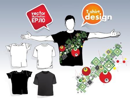 T-shirt men Stock Vector - 17413355