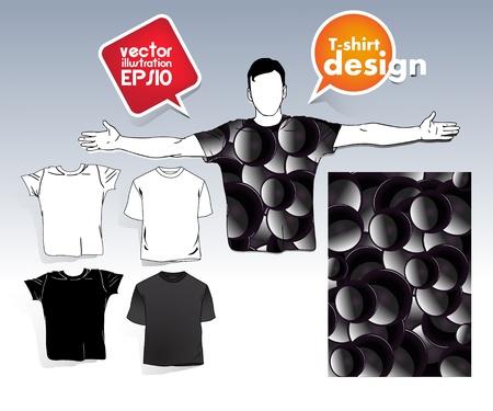 T-shirt men Stock Vector - 17413376
