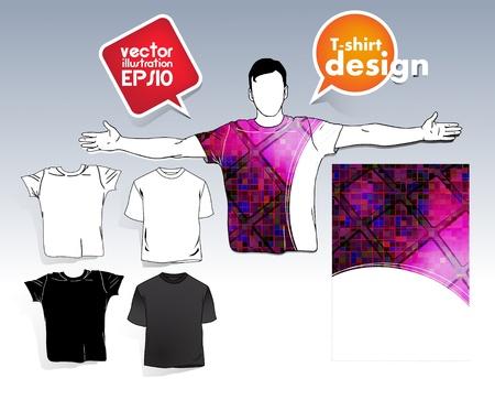 T-shirt. Men body silhouette. Stock Vector - 17413418