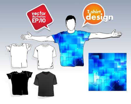 T-shirt. Men body silhouette. Stock Vector - 17413369