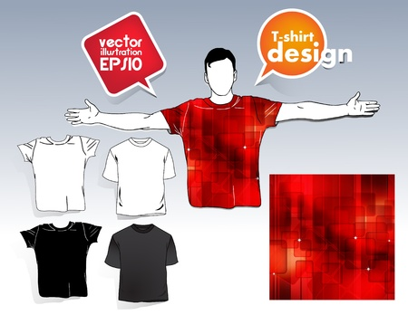 T-shirt. Men body silhouette. Stock Vector - 17413373