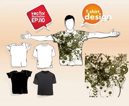 T-shirt design. Vector Stock Vector - 17413483