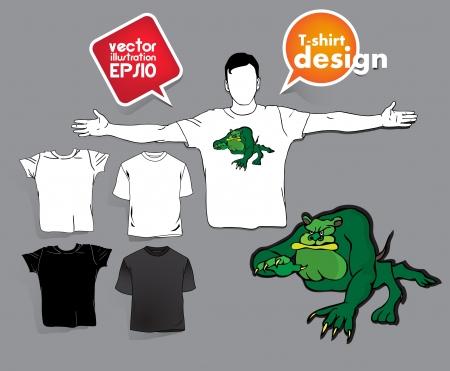 T-shirt design. Stock Vector - 17413426