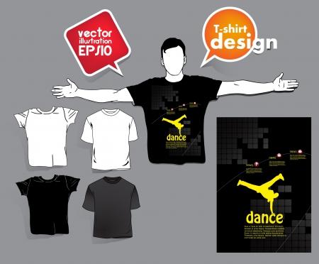 T-shirt design Stock Vector - 17413405