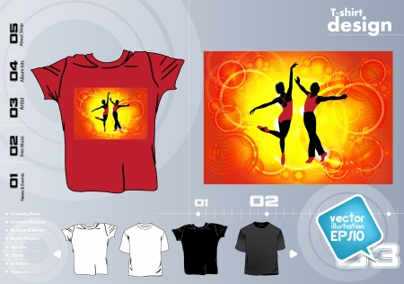 T-shirt design template Stock Vector - 17418810