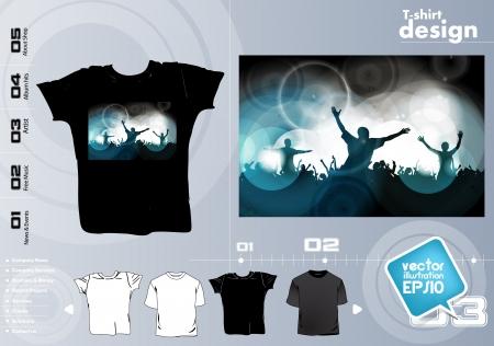 T-shirt design template Stock Vector - 17418812