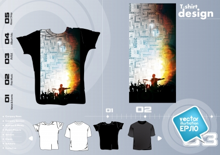 T-shirt design template Vector