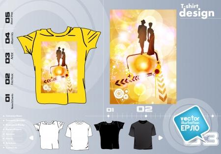 T-shirt design. Vector Stock Vector - 17418816
