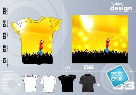 T-shirt design. Vector Stock Vector - 17418822