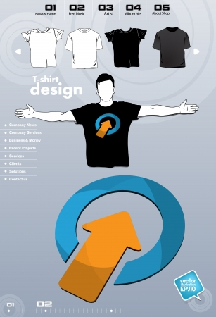 T-shirt. Men body silhouette. Vector Stock Vector - 17449684