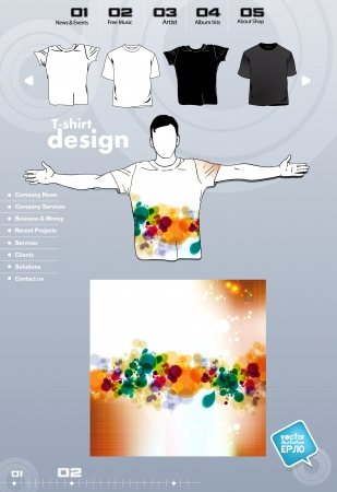 T-shirt. Men body silhouette. Vector Stock Vector - 17449725