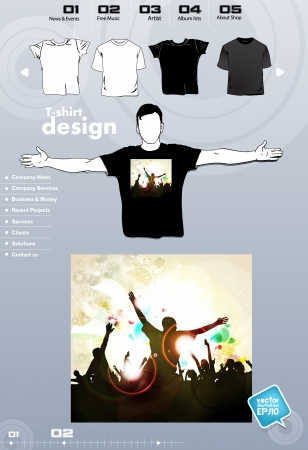 T-shirt. Men body silhouette. Vector Stock Vector - 17449940