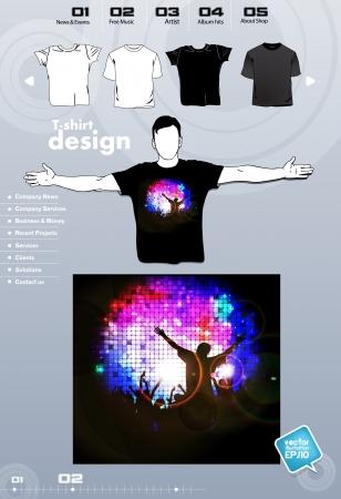 T-shirt. Men body silhouette. Vector Stock Vector - 17449828
