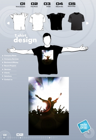 T-shirt. Men body silhouette. Vector Stock Vector - 17449820