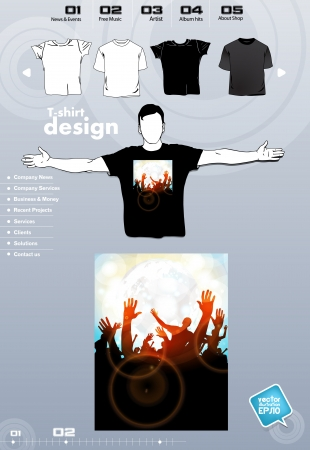 T-shirt. Men body silhouette. Vector Stock Vector - 17449913