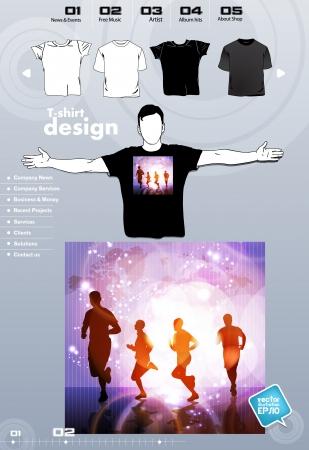 T-shirt. Men body silhouette. Vector Stock Vector - 17449852