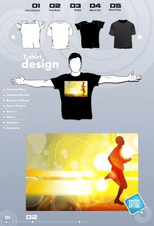 T-shirt. Men body silhouette. Vector Stock Vector - 17449848