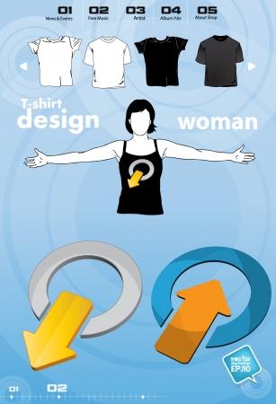 T-shirt design template Stock Vector - 17450037