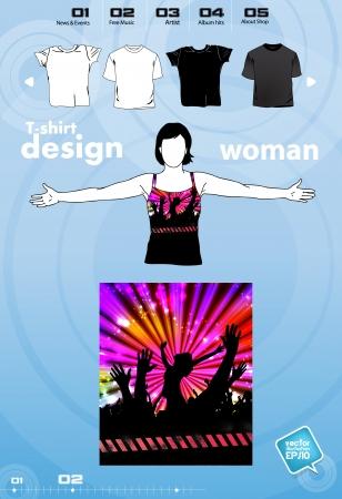 T-shirt design template Stock Vector - 17450040